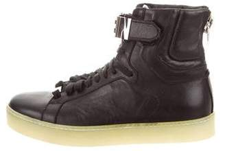 Philipp Plein 2016 Logo Leather Sneakers w/ Tags