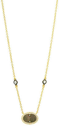 Freida Rothman Color Theory Pave Oval Pendant Necklace