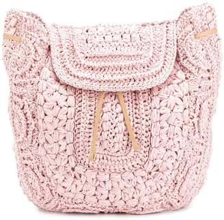 Alberta Ferretti crochet backpack