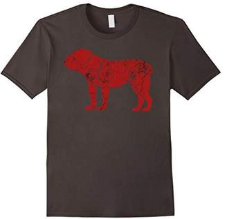 Breed English Bulldog Loving Red Silhouette T Shirt