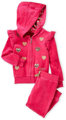 Juicy Couture Infant Girls) Two-Piece Velour Hoodie & Pants Set