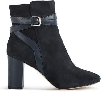 Reiss Enrica Suede Buckle Detail Boots