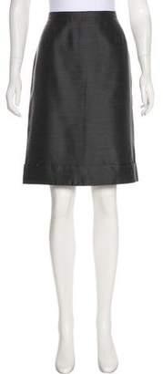 Max Mara Knee-Length Wool-Blend Skirt