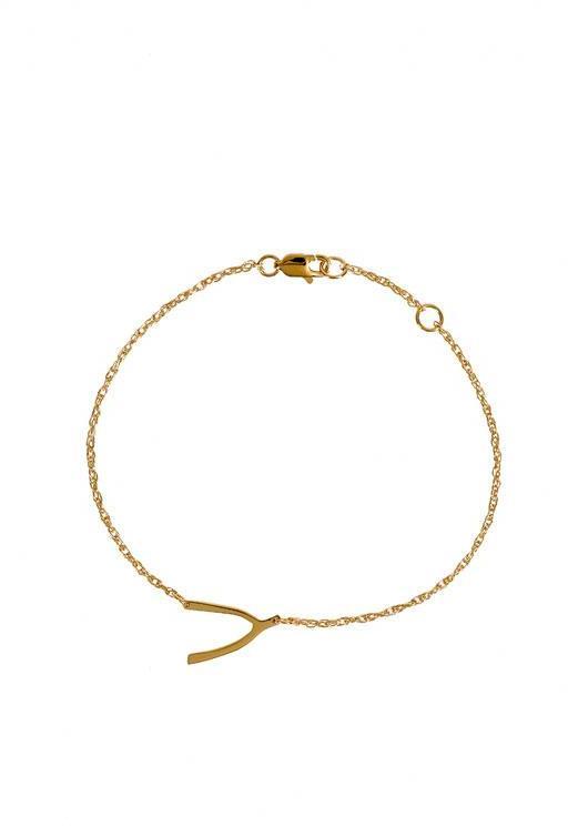 Mini Wishbone Bracelet in Silver or Gold Vermeil  - by Jennifer Zeuner