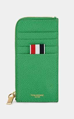 Thom Browne Men's Zip-Around Leather Card Case - Green