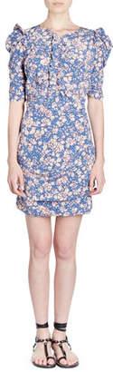 Isabel Marant Brizia Floral-Print Fitted Dress