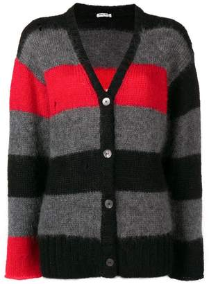 Miu Miu colour block striped cardigan