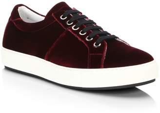 Saks Fifth Avenue Velvet Low-Top Sneakers