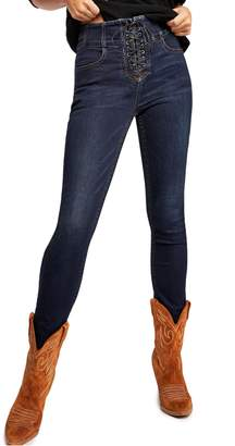 Free People Lovers Knot High Waist Skinny Jeans