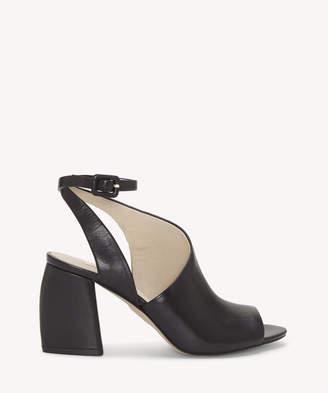 c54382e949 Louise et Cie Women's Kyvie Slingback Block Heels Black Leather Size 5 From Sole  Society