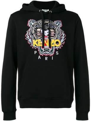Kenzo logo print hooded sweatshirt