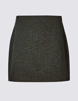 M&S Collection PETITE Jersey A-Line Mini Skirt