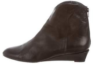 Stuart Weitzman Leather Wedge Boots