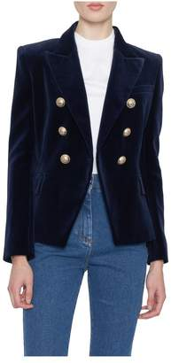 Balmain Six Button Velvet Blazer