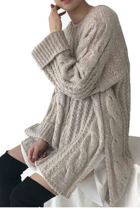 Avantlook Side-Slit Loose Sweater
