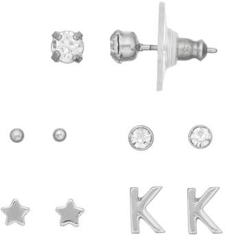 Lauren Conrad Monogram Nickel Free Stud Earring Set