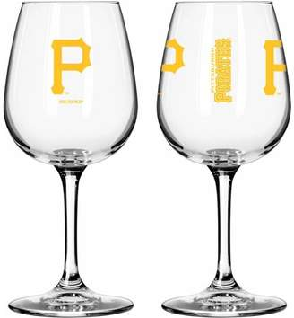 503d371089fe Boelter Brands MLB Set of Two 12 Ounce Wine Glass Set, Pittsburgh Pirates