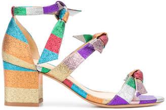 tri-strap striped sandals