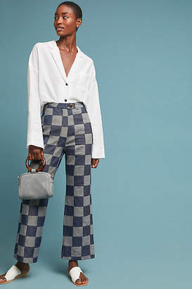 Mara Hoffman Checkerboard Trousers