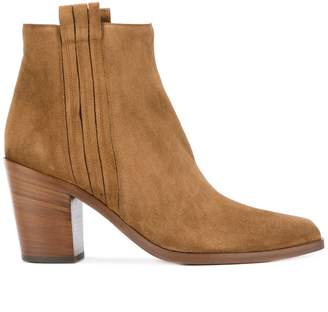 Sartore mid heel ankle boots