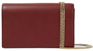 Diane von Furstenberg - Soirée Leather Shoulder Bag - Claret $248 thestylecure.com