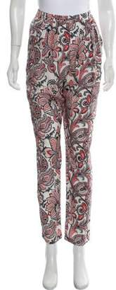 Stella McCartney High-Rise Straight-Leg Pants Red High-Rise Straight-Leg Pants