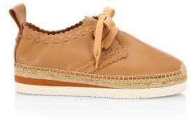 See by Chloe Glyn Leather Espadrille Sneakers