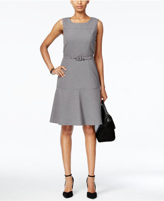 Nine West The Essential Belted Fit & Flare Dress $79 thestylecure.com