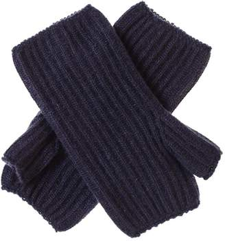 Black Navy Mid Length Cashmere Wrist Warmers