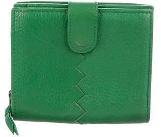 Bottega Veneta Grained Leather Compact Wallet