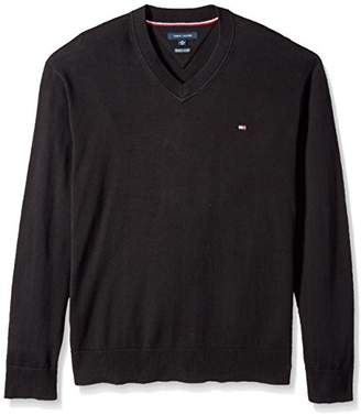 Tommy Hilfiger Men's Big and Tall Sweater Signature Solid V Neck