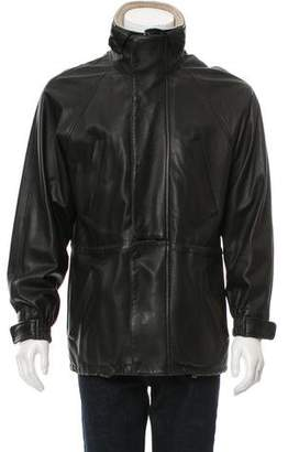 Loro Piana Cashmere-Lined Deer Leather Jacket