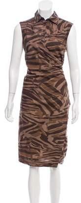 Max Mara Weekend Printed Sleeveless Midi Dress