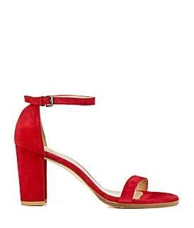 Stuart Weitzman Nearlynude Block Heel Sandal