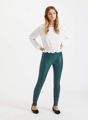 Miss Selfridge Green four way stretch leggings