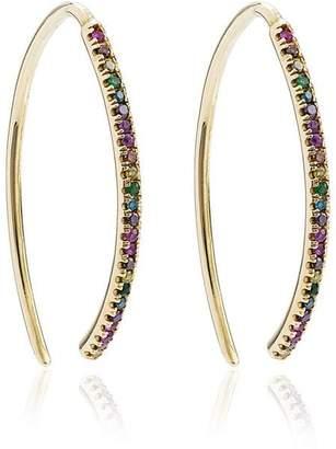 Ileana Makri yellow gold and diamond rainbow hoops