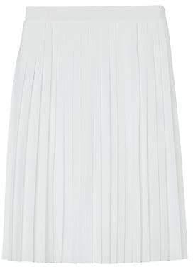Burberry Women's Pleated Silk Skirt
