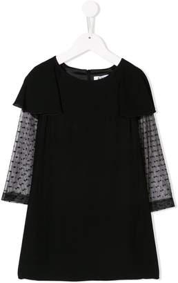 Dondup Kids layered sheer sleeved dress