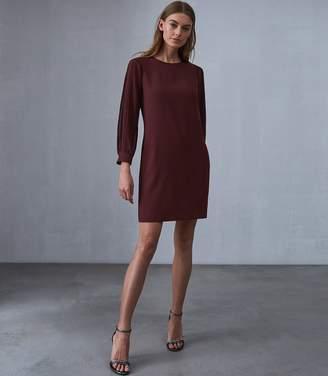 Reiss Amerie Pleat Sleeve Shift Dress