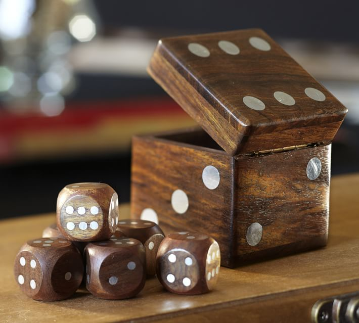 Pottery Barn Dice Box Set