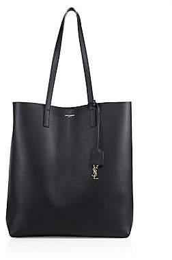 Saint Laurent Women's Large Leather Shopper Tote