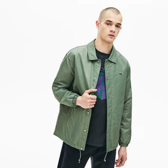Lacoste Men's LIVE Buttoned Embroidered Coach Jacket