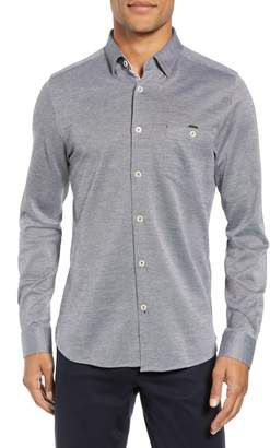 Ted Baker Timothy Slim Fit Cotton Jersey Shirt