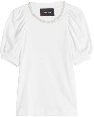 Simone Rocha Puff Sleeve Cotton T-Shirt
