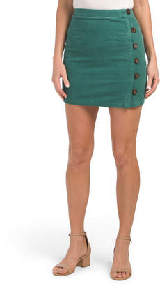 Juniors Australian Designed Corduroy Side Button Skirt