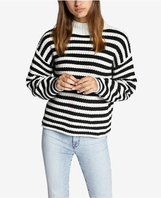 Sanctuary Idris Striped Mock-Neck Sweater