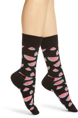 Happy Socks Watermelon Crew Socks