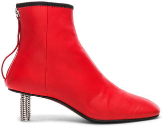 Calvin Klein Grainne Leather Crystal Heel Ankle Boots