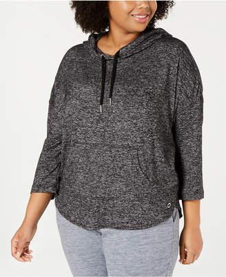 Calvin Klein Plus Size 3/4-Sleeve Hoodie