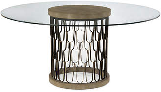 John-Richard Collection Paolo Shagreen Dining Table - Black/Gold